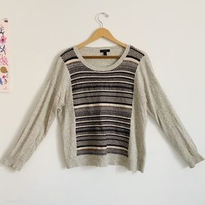 J.Crew sweater with front panel design